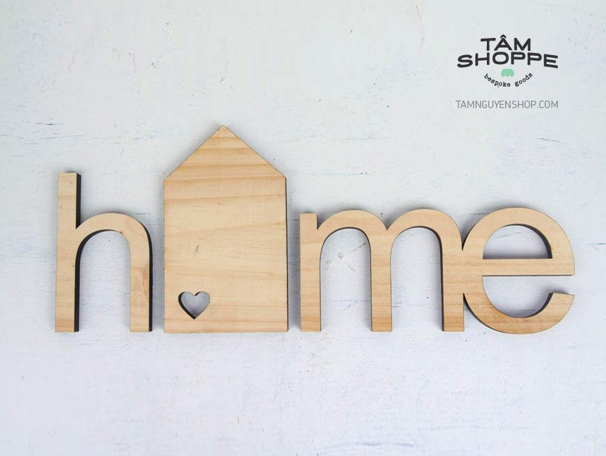 Tâm Shoppe - Chữ gỗ HOME cách điệu (Có nhiều màu)